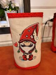 Embroidered box with Cute Gnome design