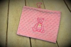 Embroidered handbag with Old Teddy design
