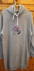 Embroidered hoodie with Rose design
