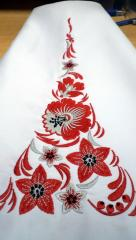 Embroidered napkin with Floral ornament free design