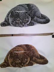 British Cat free photo embroidery design