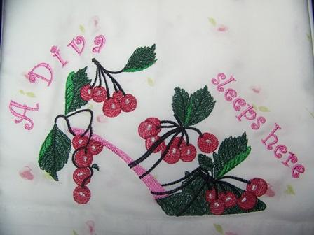 Berry shoes embroidery design
