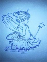 Girl in fairy costume embroidery design