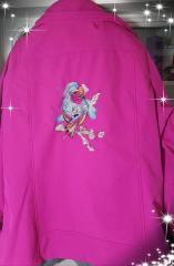 Embroidered jacket with Winter bird design