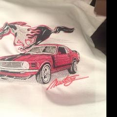 Mustang embroidery design