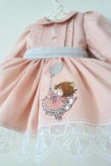 Embroidered dress with Little girl design