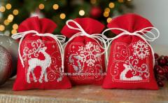 Embroidered gift bags with Christmas free designs