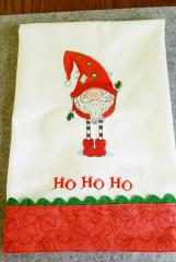 Embroidered napkin with Gnome design