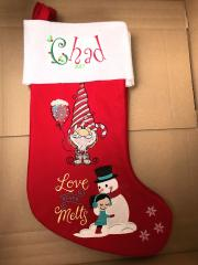 Embroidered sock with Snowbound balloon design