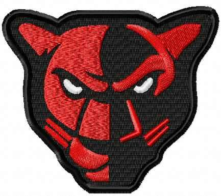 Petal Panther logo machine embroidery design