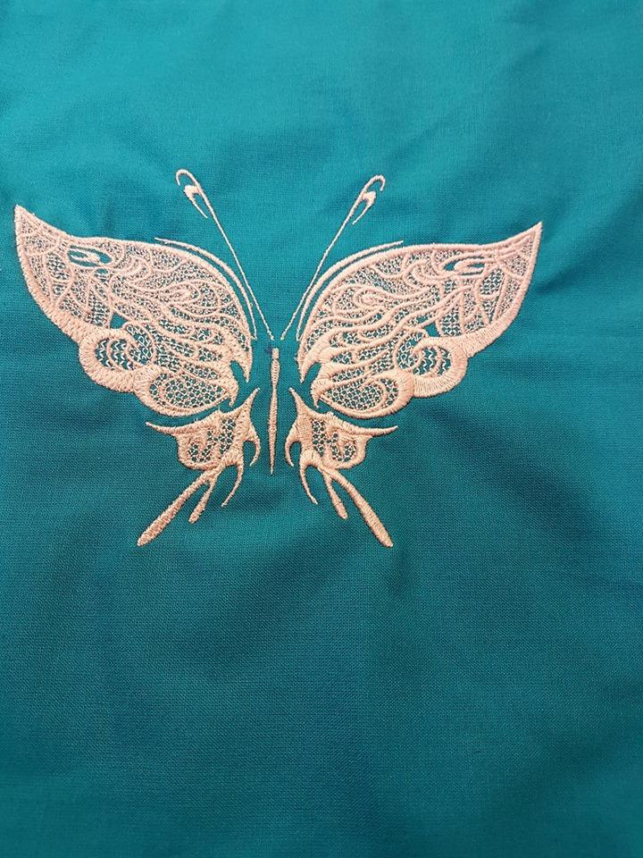 Buttefly embroidery design