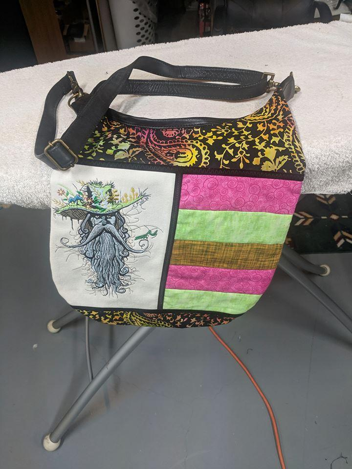 Embroidered bag with Rootman design