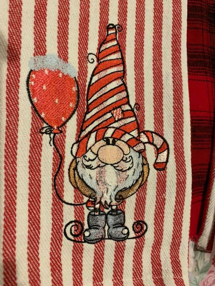 Gnome with Balloon embroidery design