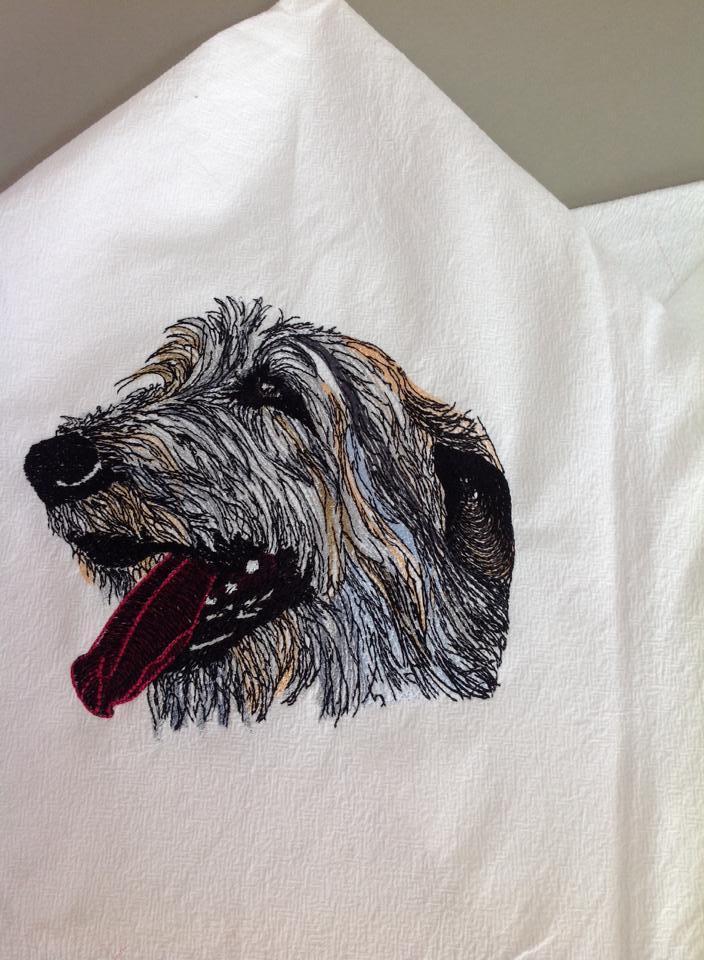 Big Dog free machine embroidery design