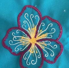 Pretty flower embroidery design