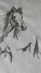 Horse pensil sketch design