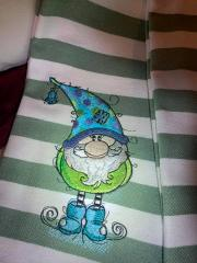 Cute gnome embroidery design