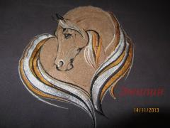 Cute horse machine embroidery design