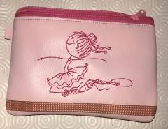 Embroidered handbag with Dancing girl design