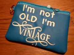 Embroidered handbag with Vintage design