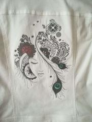 Embroidered jacket with Firebird design