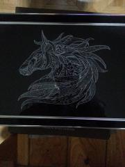 Mosaic horse embroidery design