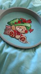 Teddy Bear fashion machine embroidery design in hoop