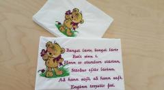 Embroidered postcard Teddy bear