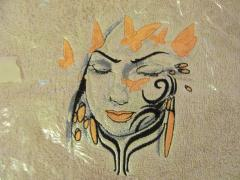 Tribal lady embroidered design