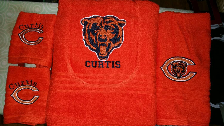 Chicago Bears logo machine embroidery design
