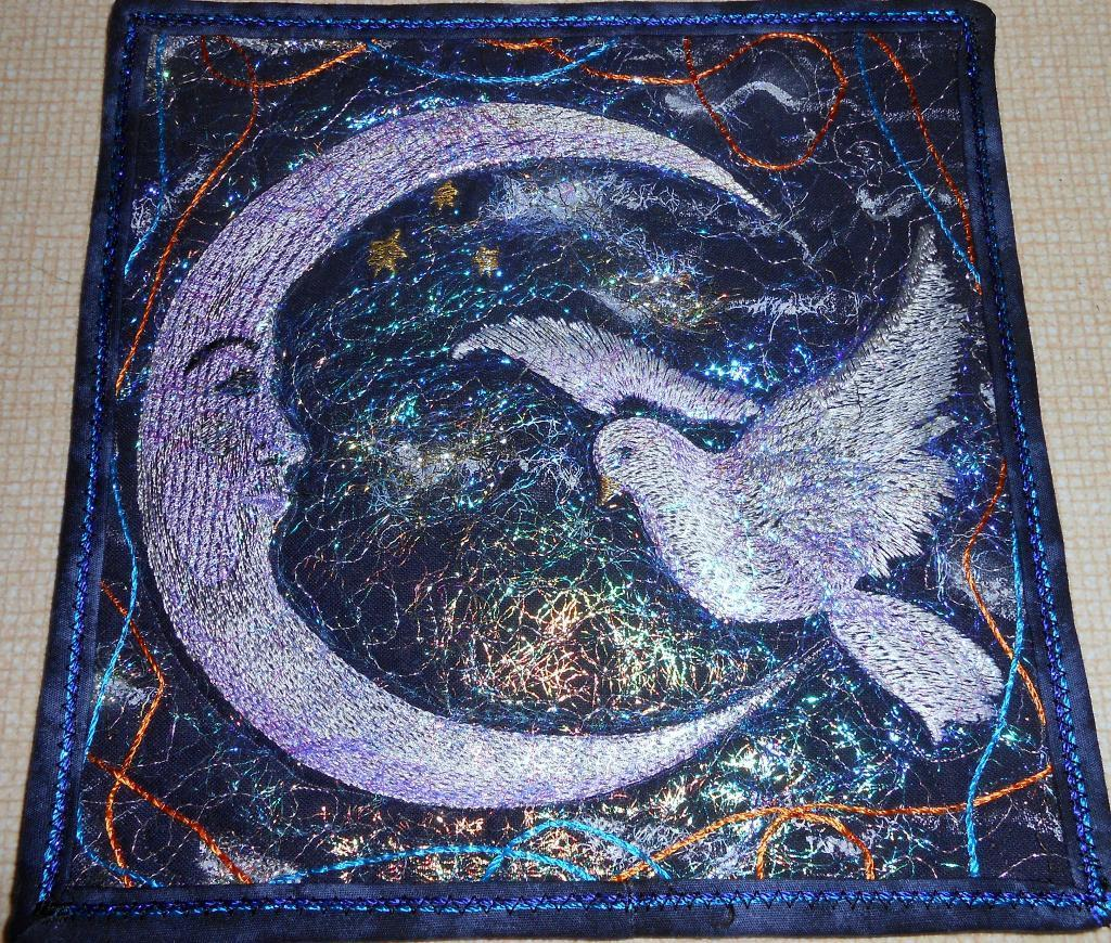 Moon Glow wall carpet with free fantasy embroidery design