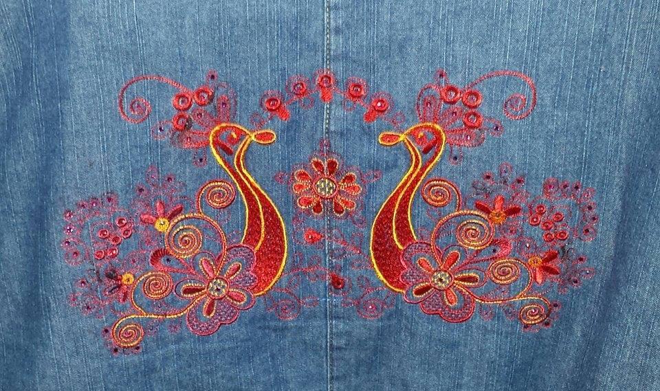 Firebird free embroidery design