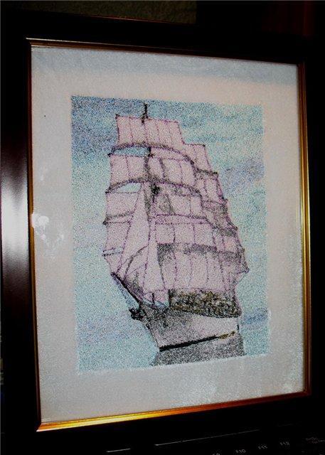 Embroidered photo stitch ship free design