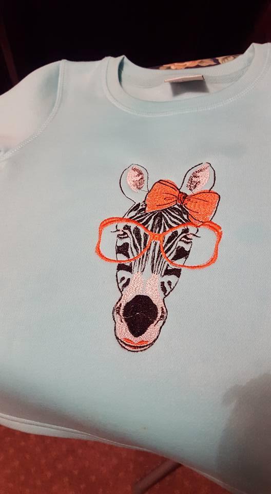 Zebra embroidered shirt