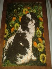 Embroidered dog photo stitch free design