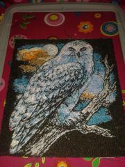 Polar owl embroidery design