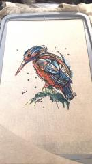 In hoop Colorful bird embroidery design