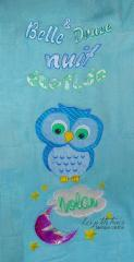 Baby blanket with cute owls free embroidery design
