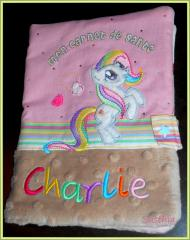 Сopybook cover with Pony free embroidery design
