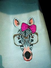 Zebra free embroidery design