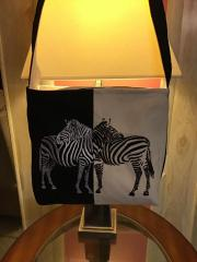 Embroidered bag with Two zebra free design