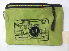 Embroidered handbag with Camera design