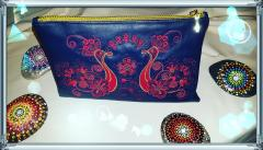 Embroidered handbag with Firebirds design