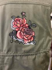 Embroidered jacket with Roses design