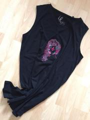 Embroidered shirt with Marine witch design