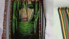 River magic woman embroidery design