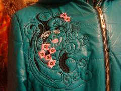 Embroidered jacket with spring free design