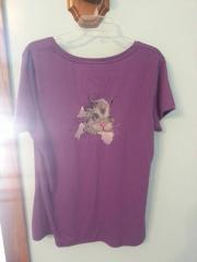 Embroidered shirt with free kitty design