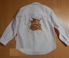 Shirt with Angry Cat free embroidery design