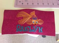 Embroidered gold fish free design